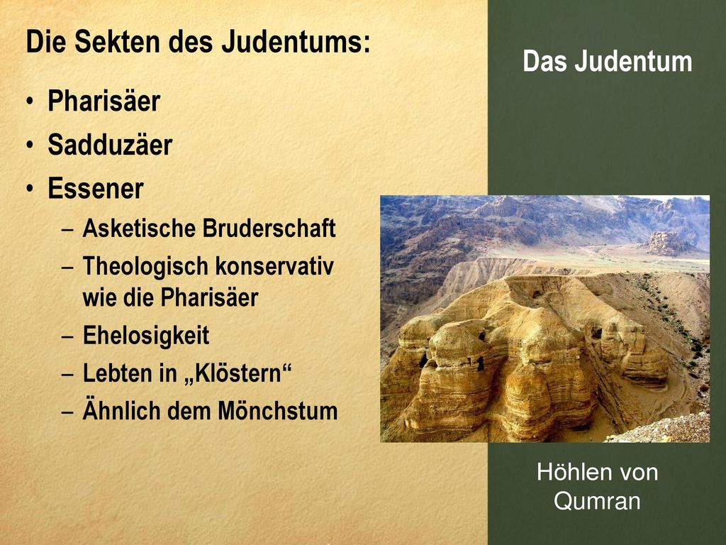 Die Sekten des Judentums: