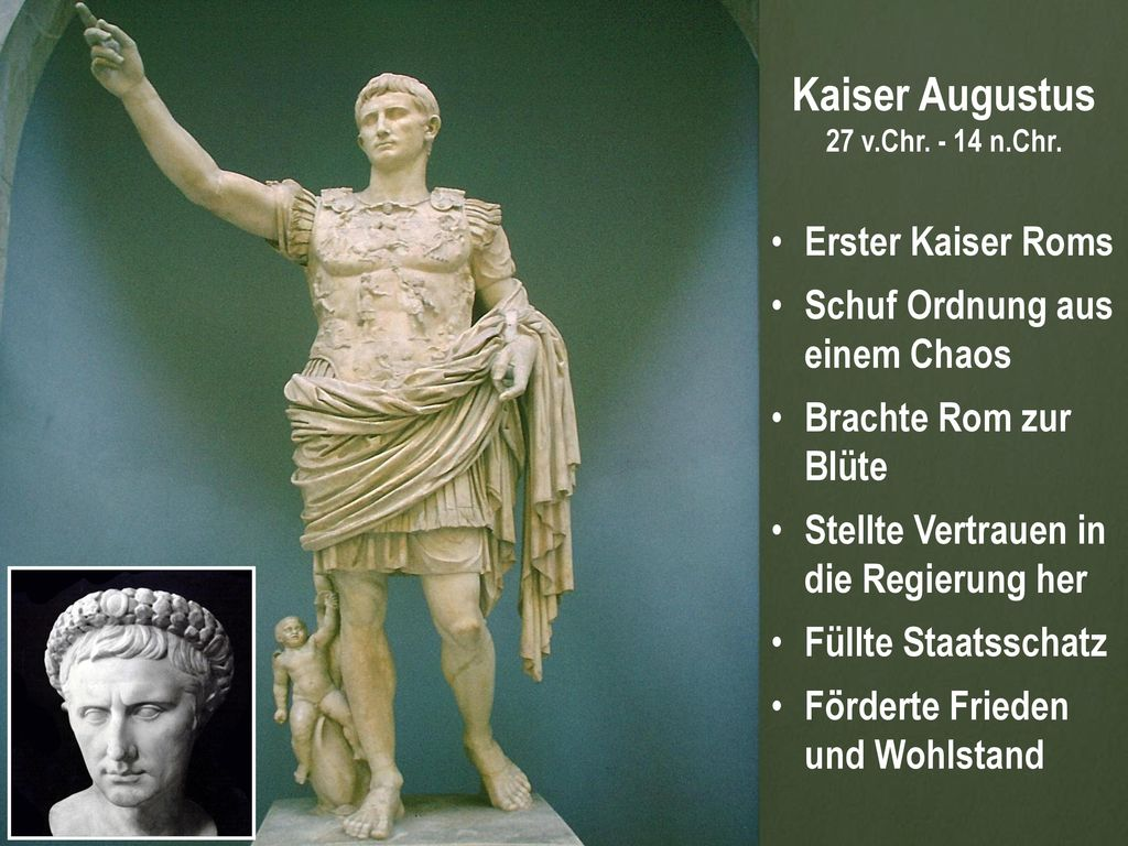 Kaiser Augustus Erster Kaiser Roms Schuf Ordnung aus einem Chaos