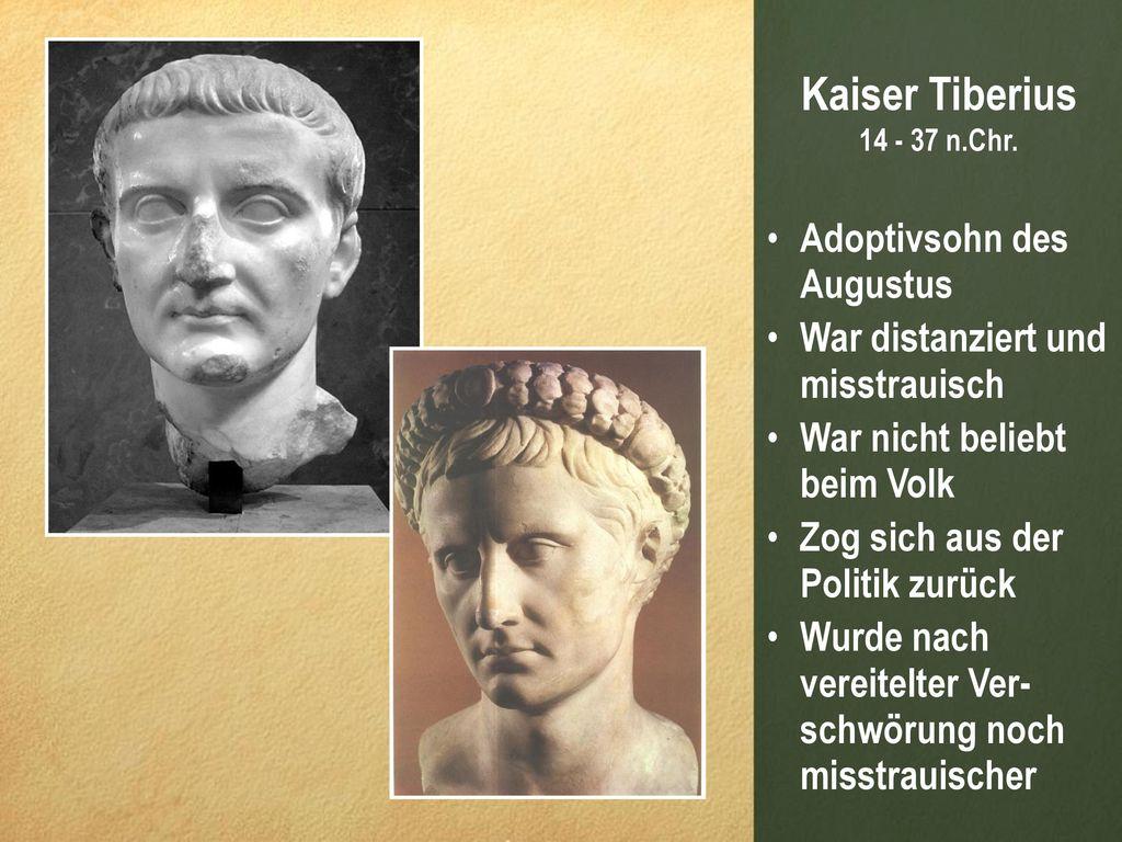 Kaiser Tiberius Adoptivsohn des Augustus