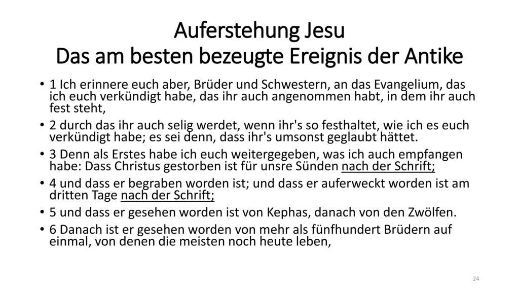Auferstehung Jesu Das am besten bezeugte Ereignis der Antike