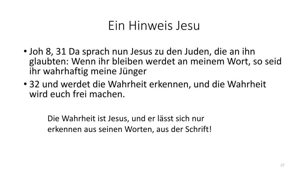 Ein Hinweis Jesu