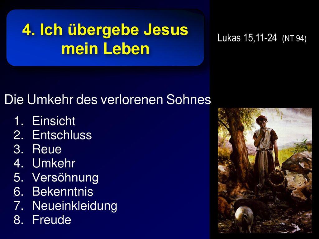 4. Ich übergebe Jesus mein Leben