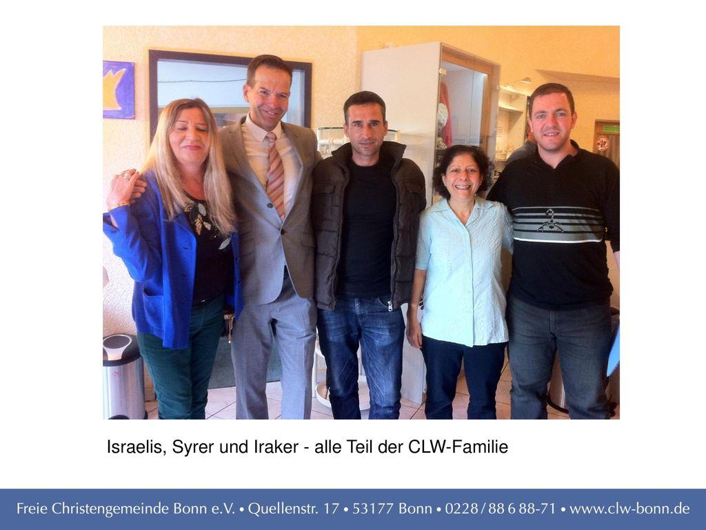 Israelis, Syrer und Iraker - alle Teil der CLW-Familie
