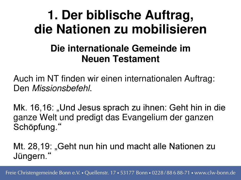 1. Der biblische Auftrag, die Nationen zu mobilisieren