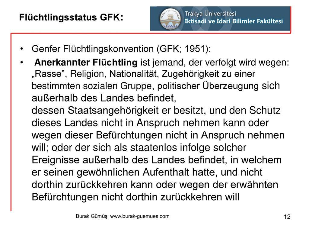 Flüchtlingsstatus GFK: