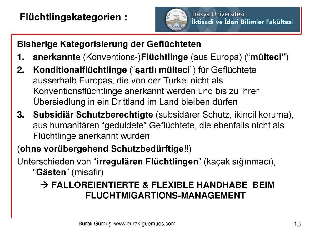 Flüchtlingskategorien :