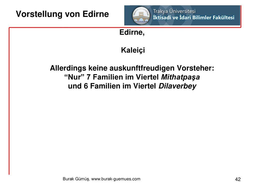 Vorstellung von Edirne