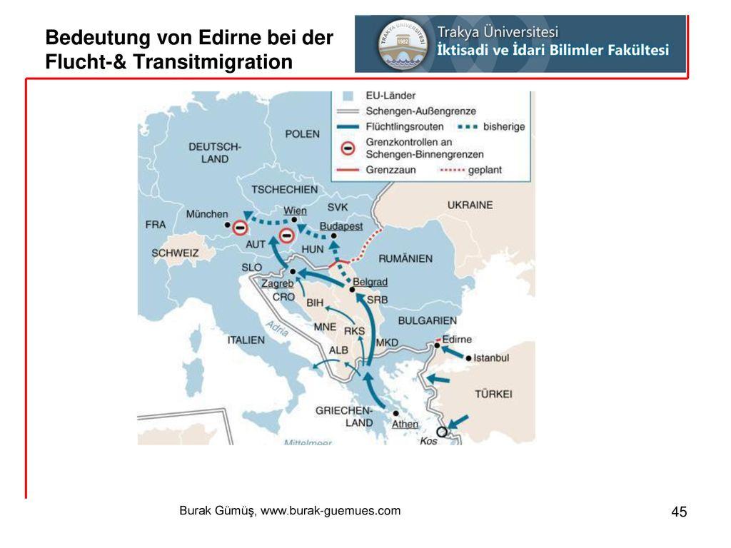Bedeutung von Edirne bei der Flucht-& Transitmigration