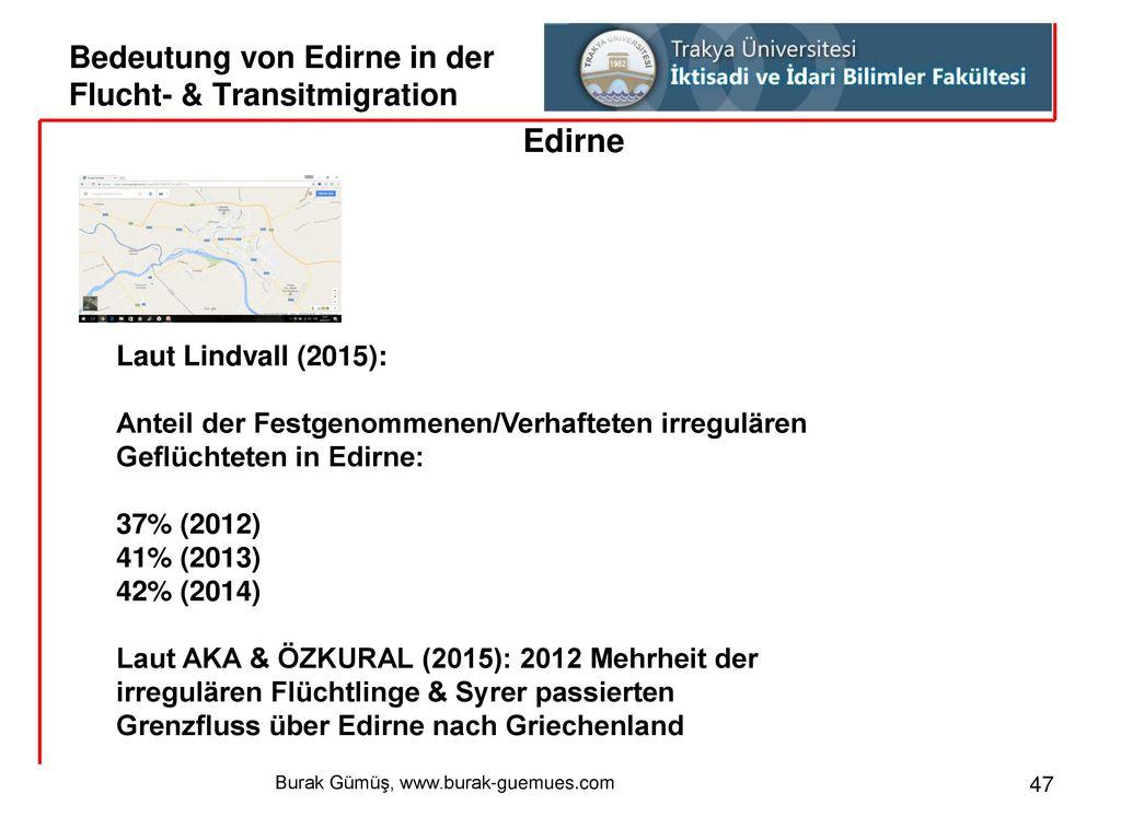 Bedeutung von Edirne in der Flucht- & Transitmigration
