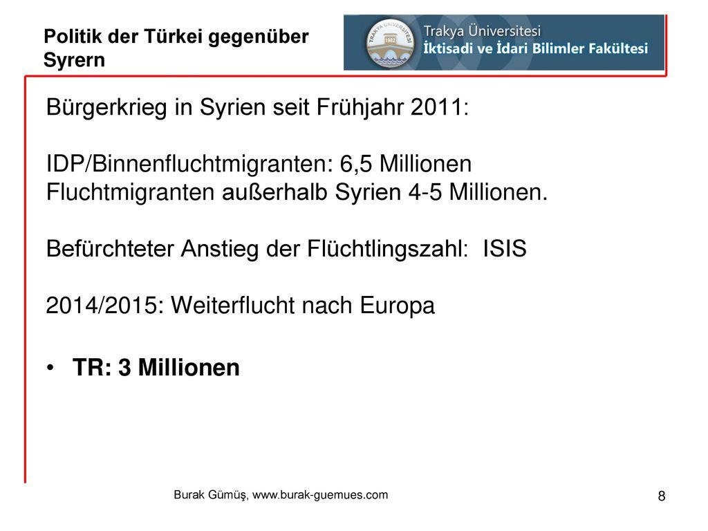 Politik der Türkei gegenüber Syrern