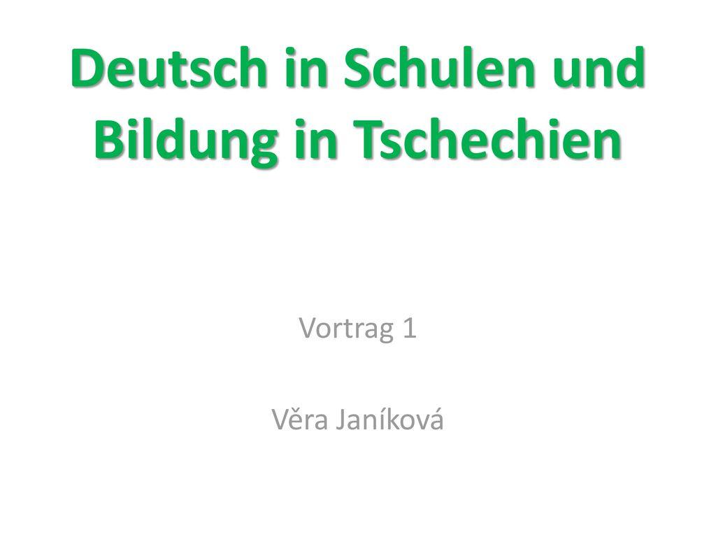 Deutsch in Schulen und Bildung in Tschechien