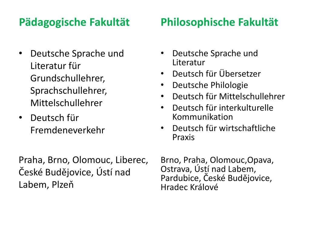 Pädagogische Fakultät Philosophische Fakultät
