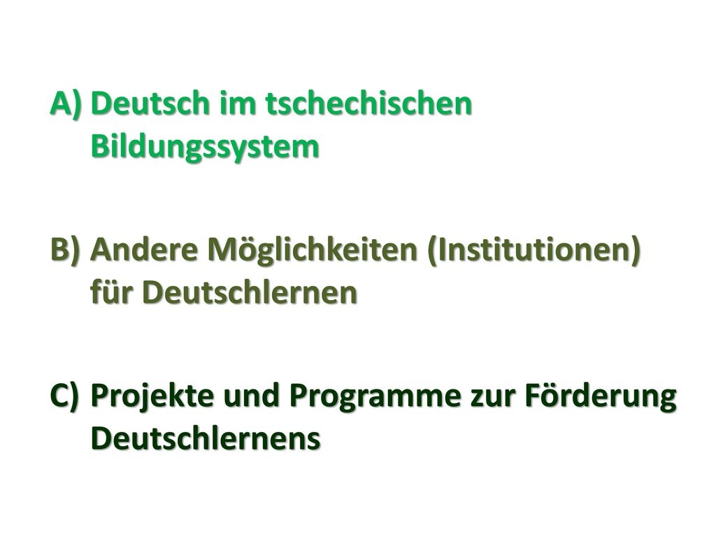 Deutsch im tschechischen Bildungssystem