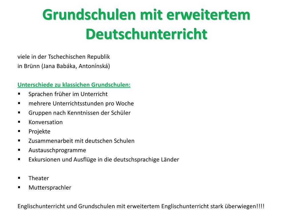 Grundschulen mit erweitertem Deutschunterricht