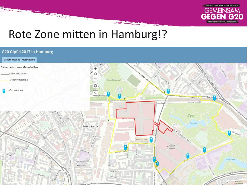 Rote Zone mitten in Hamburg!