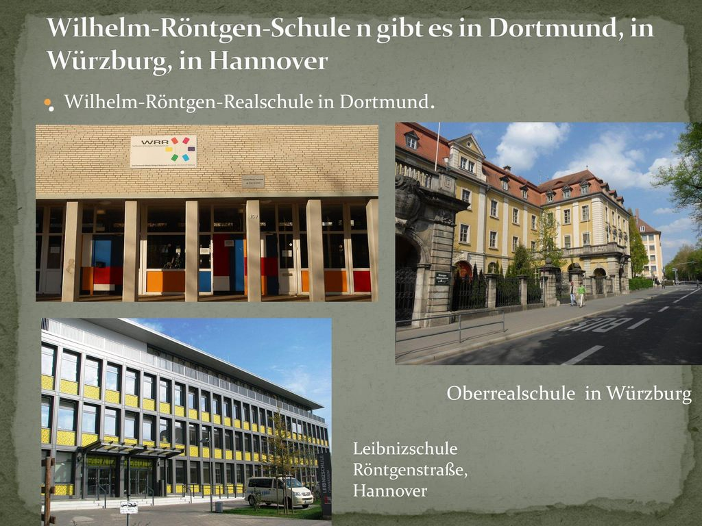 Wilhelm-Röntgen-Realschule in Dortmund.