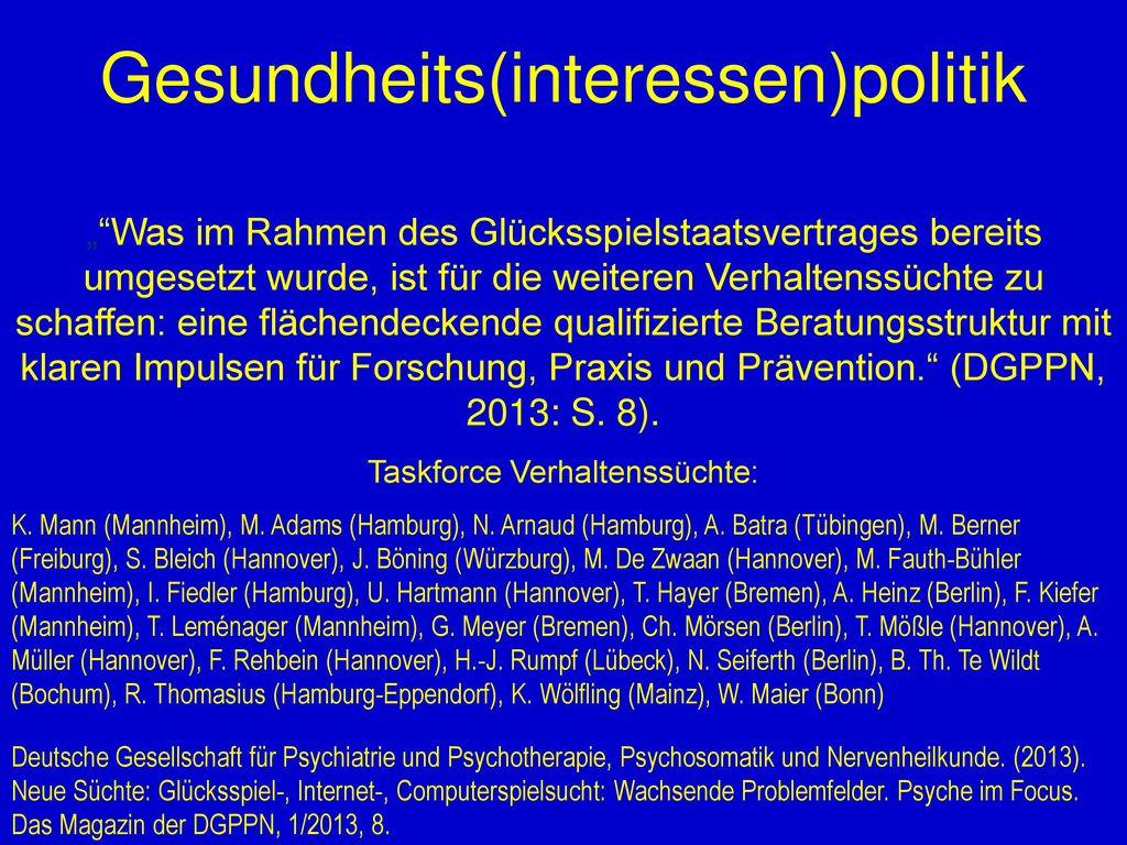Gesundheits(interessen)politik