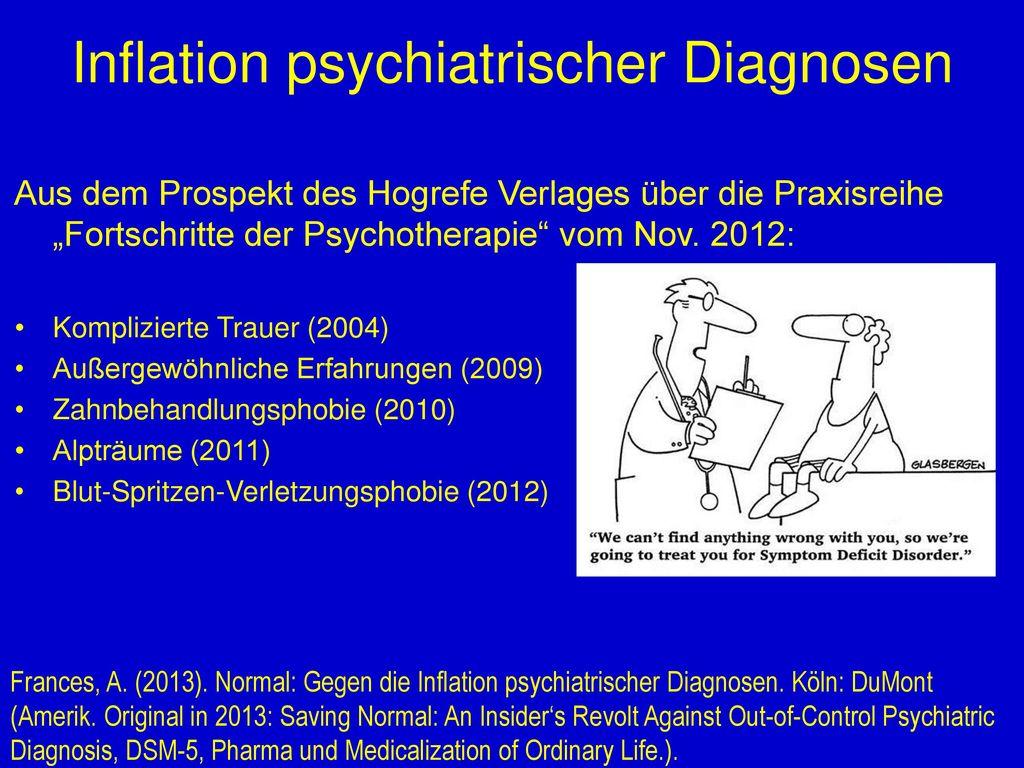 Inflation psychiatrischer Diagnosen