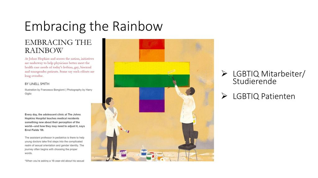 Embracing the Rainbow LGBTIQ Mitarbeiter/ Studierende LGBTIQ Patienten