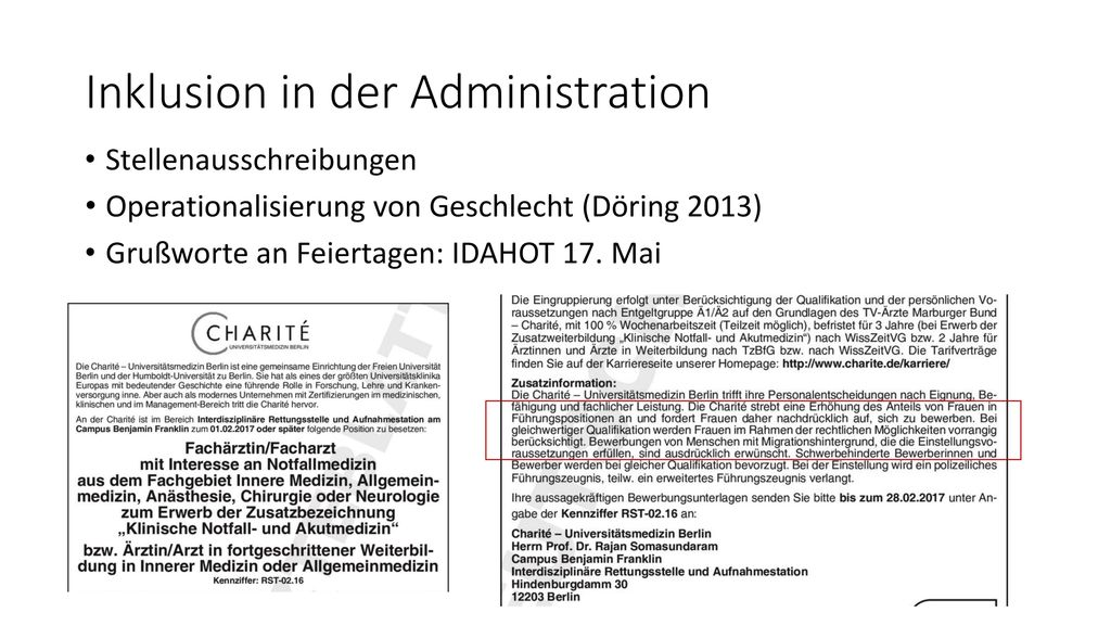 Inklusion in der Administration