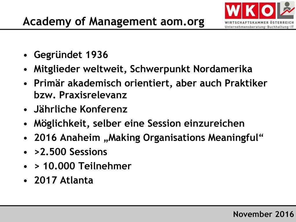Academy of Management aom.org
