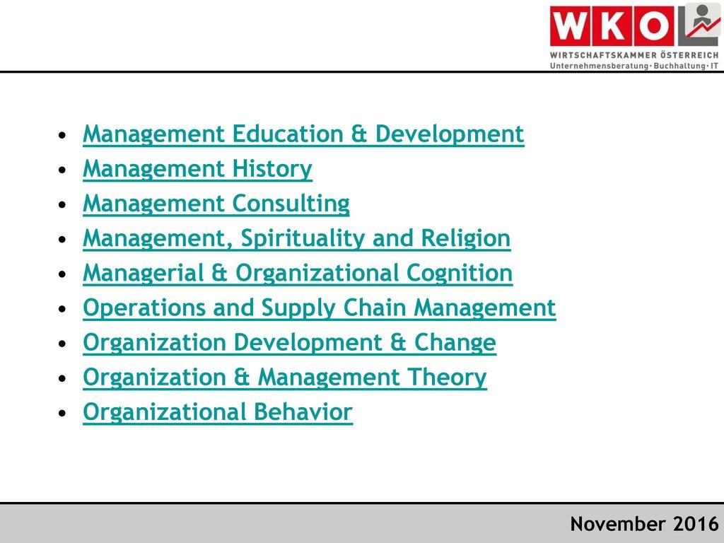 Management Education & Development