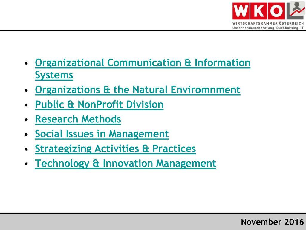 Organizational Communication & Information Systems