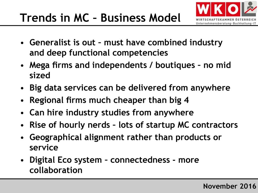 Trends in MC – Business Model