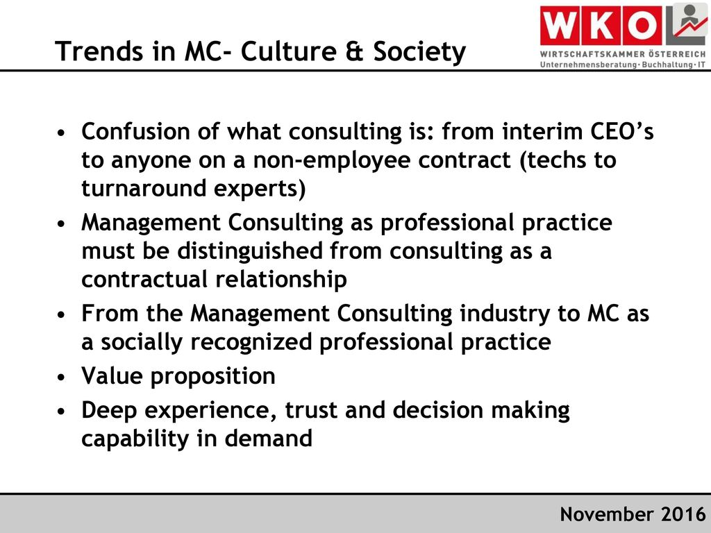 Trends in MC- Culture & Society