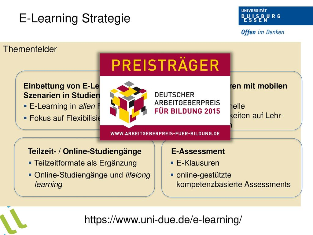 E-Learning Strategie   Themenfelder