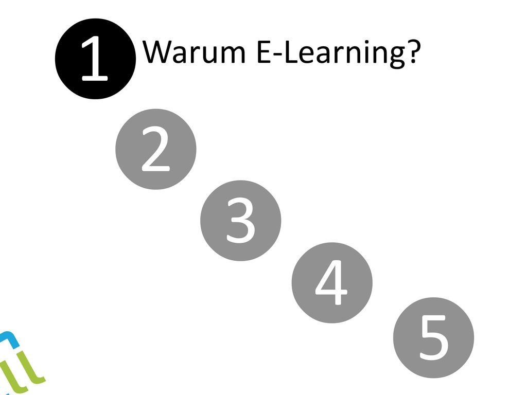 ❶ Warum E-Learning ❷ ❸ ❹ ❺