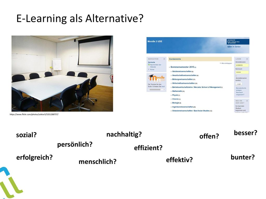 E-Learning als Alternative