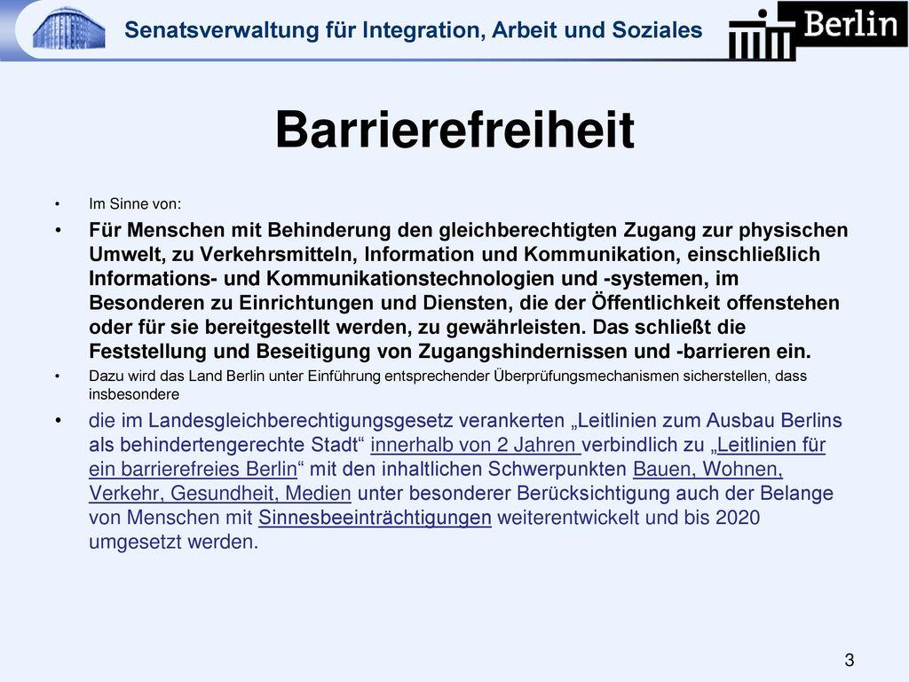 Barrierefreiheit Im Sinne von: