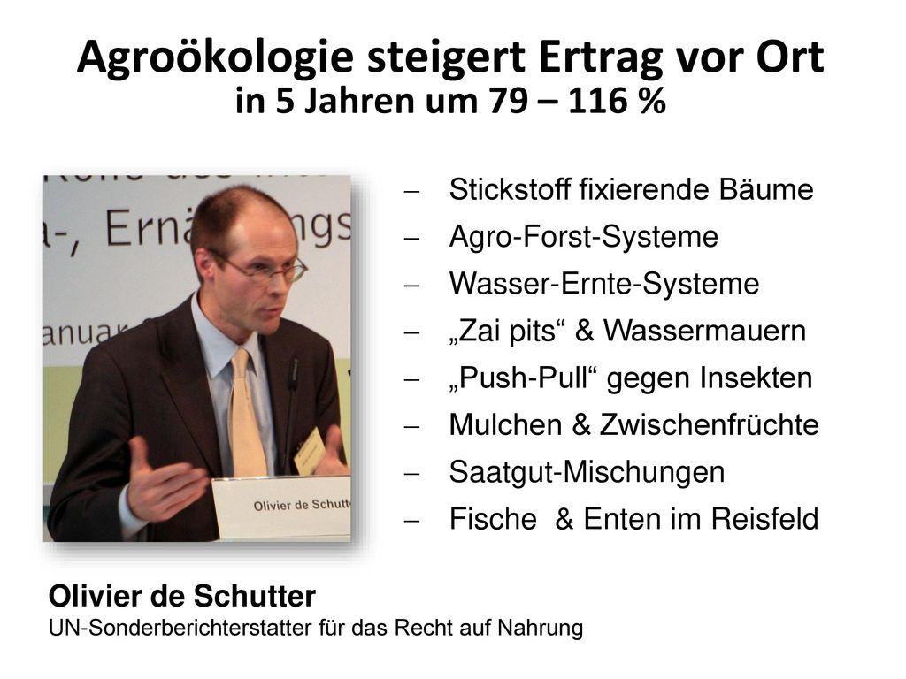 Agroökologie steigert Ertrag vor Ort in 5 Jahren um 79 – 116 %