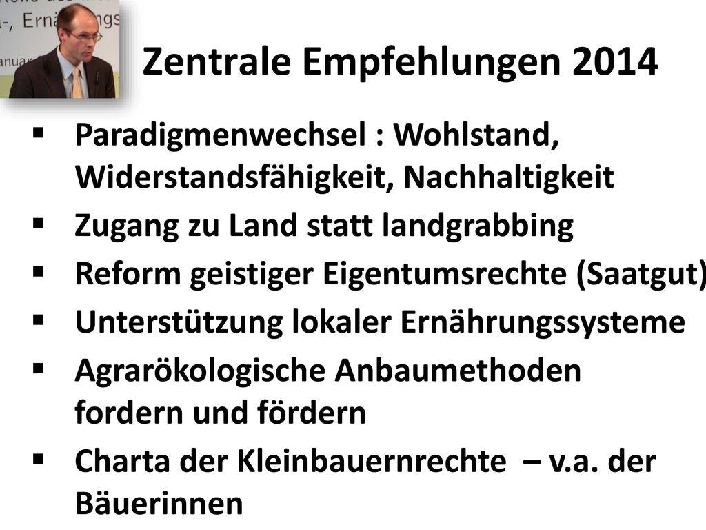 Zentrale Empfehlungen 2014