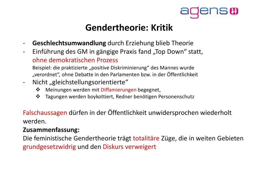 Gendertheorie: Kritik