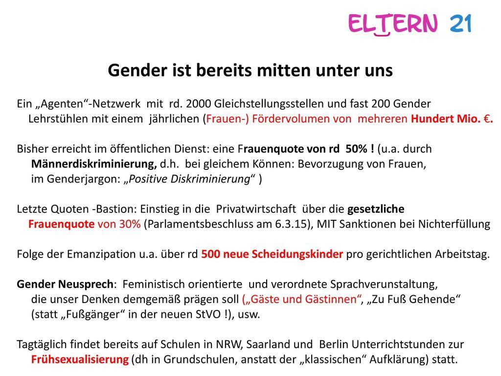 Gender ist bereits mitten unter uns