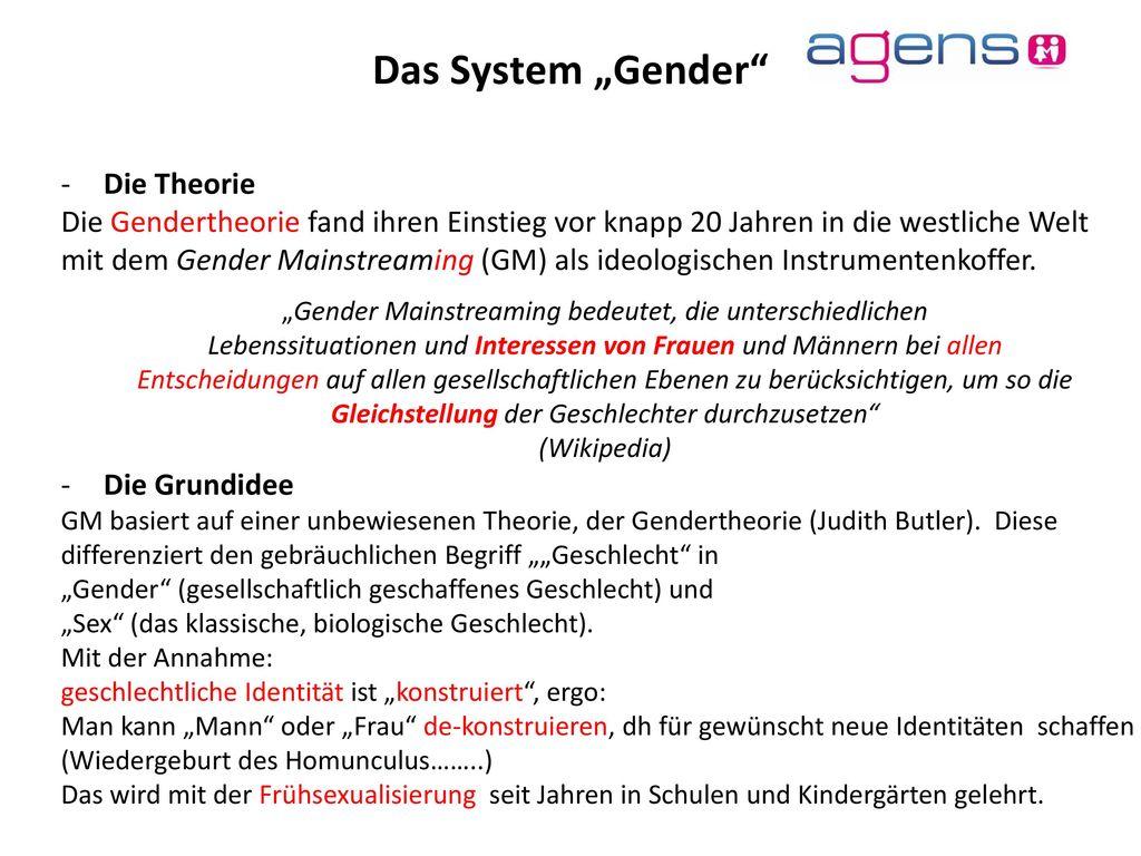 """Das System """"Gender Die Theorie"""