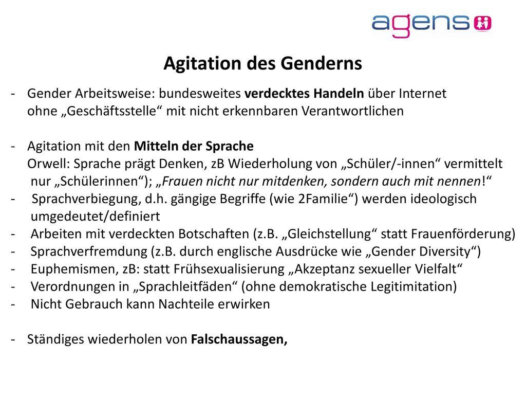 Agitation des Genderns