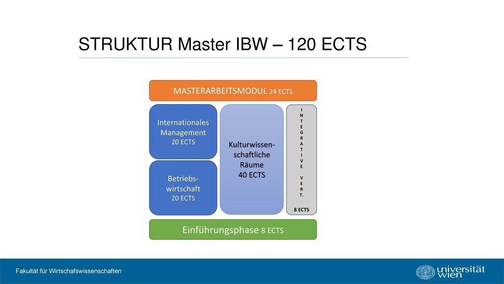 STRUKTUR Master IBW – 120 ECTS