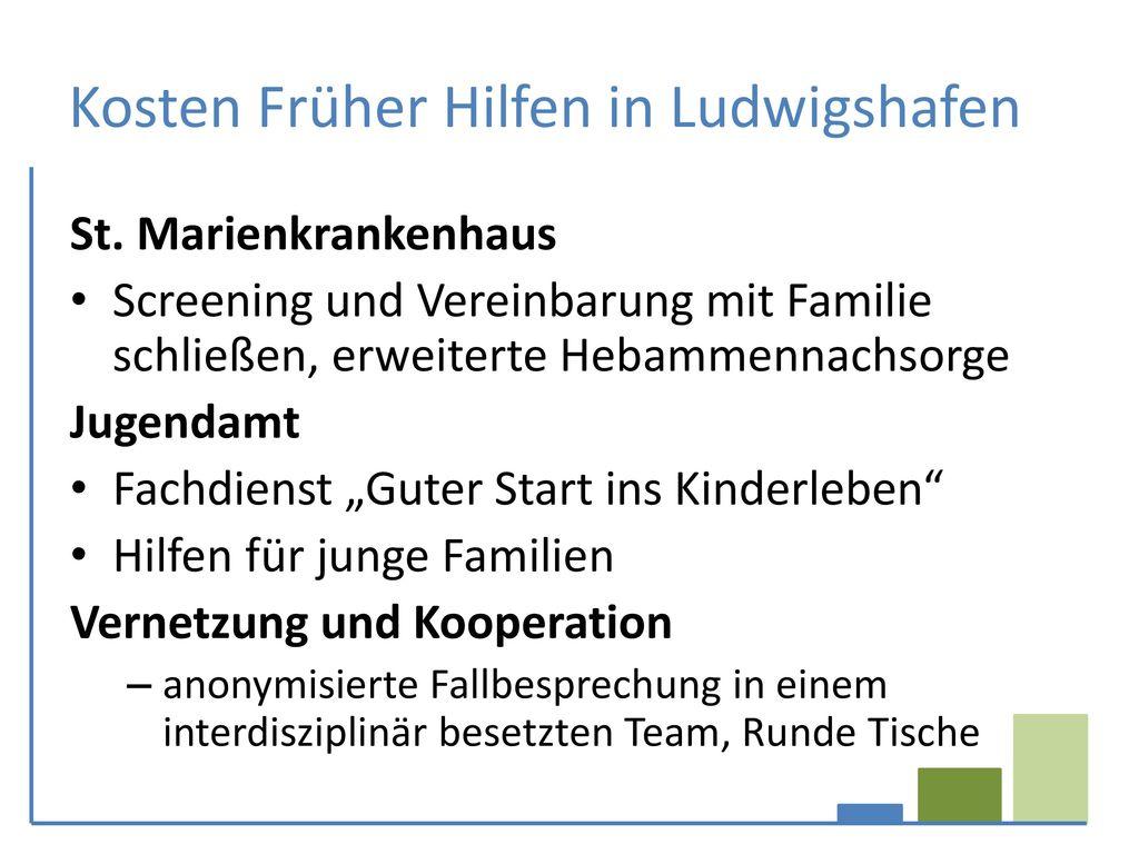 Kosten Früher Hilfen in Ludwigshafen