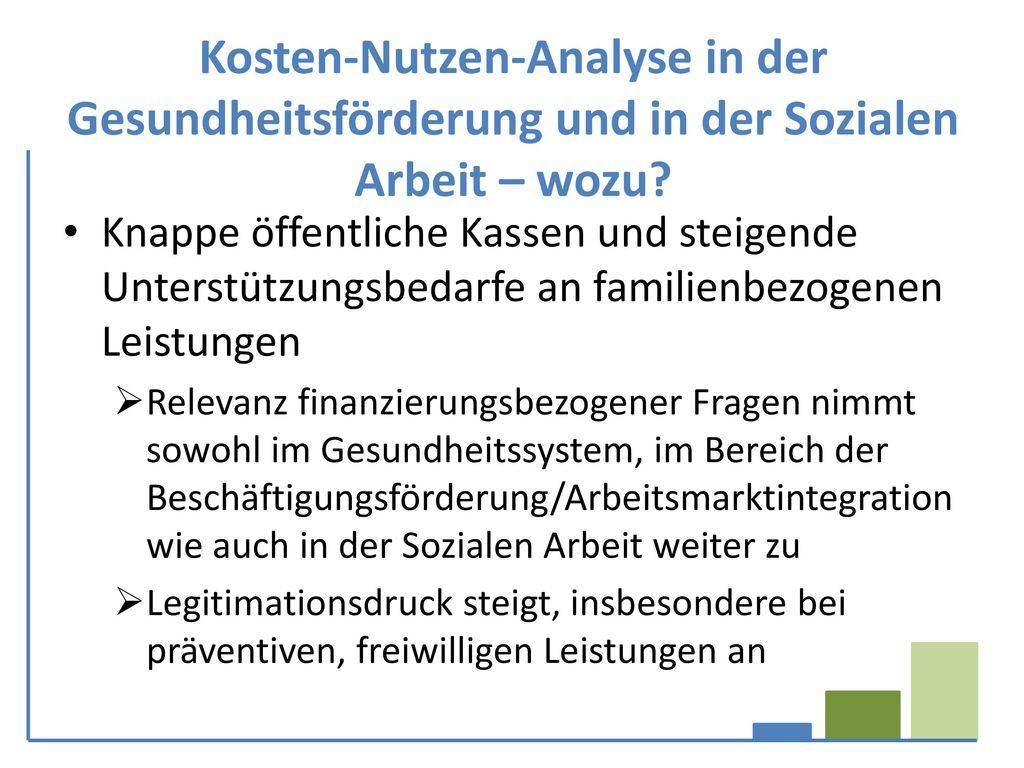 Kosten-Nutzen-Analyse in der Gesundheitsförderung und in der Sozialen Arbeit – wozu