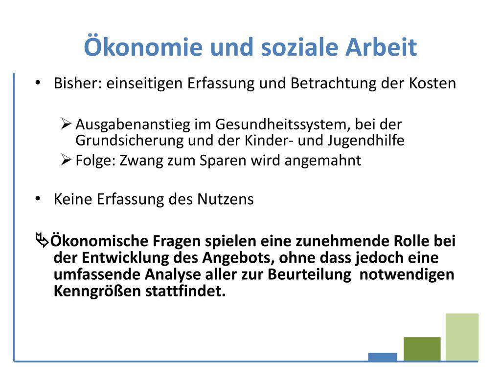 Ökonomie und soziale Arbeit