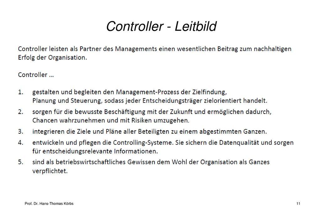 Controller - Leitbild