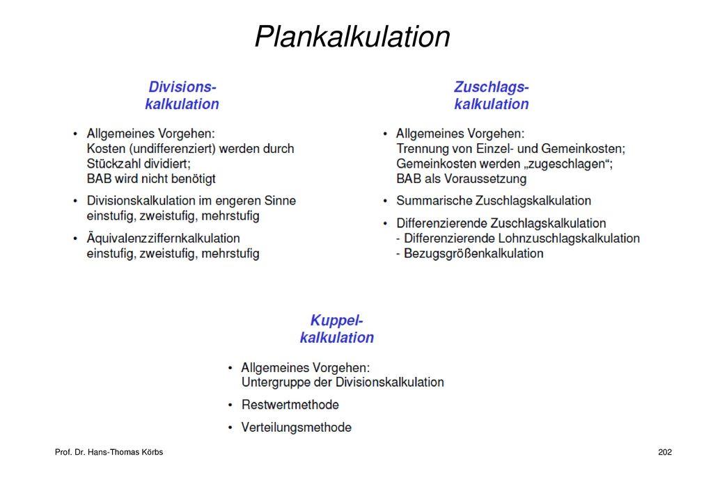 Plankalkulation
