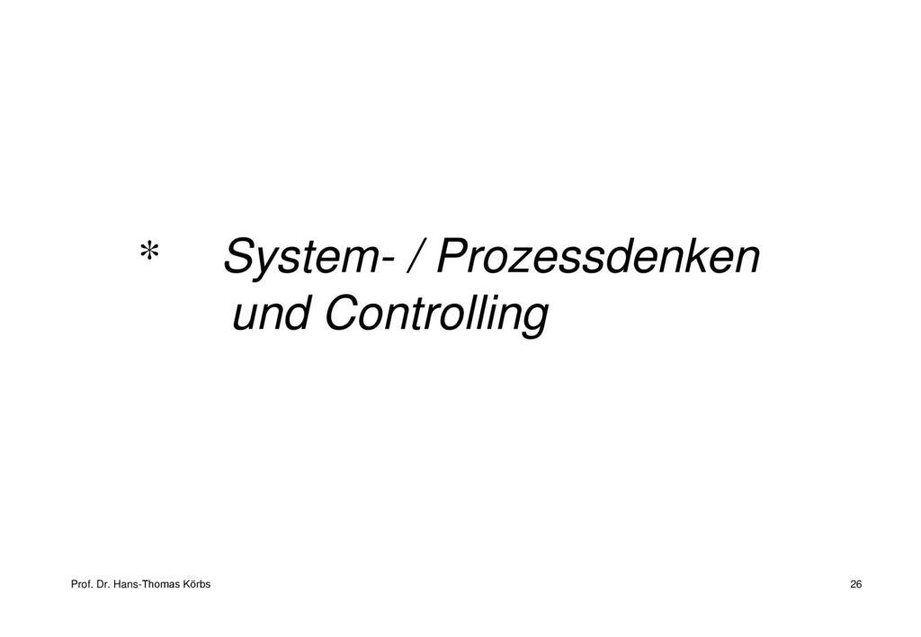 System- / Prozessdenken