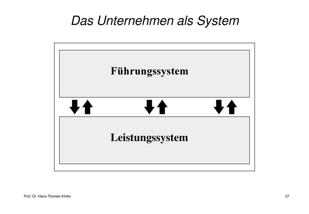 Das Unternehmen als System