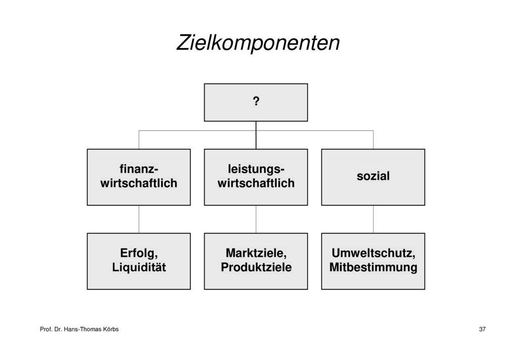 Zielkomponenten finanz- leistungs- sozial wirtschaftlich