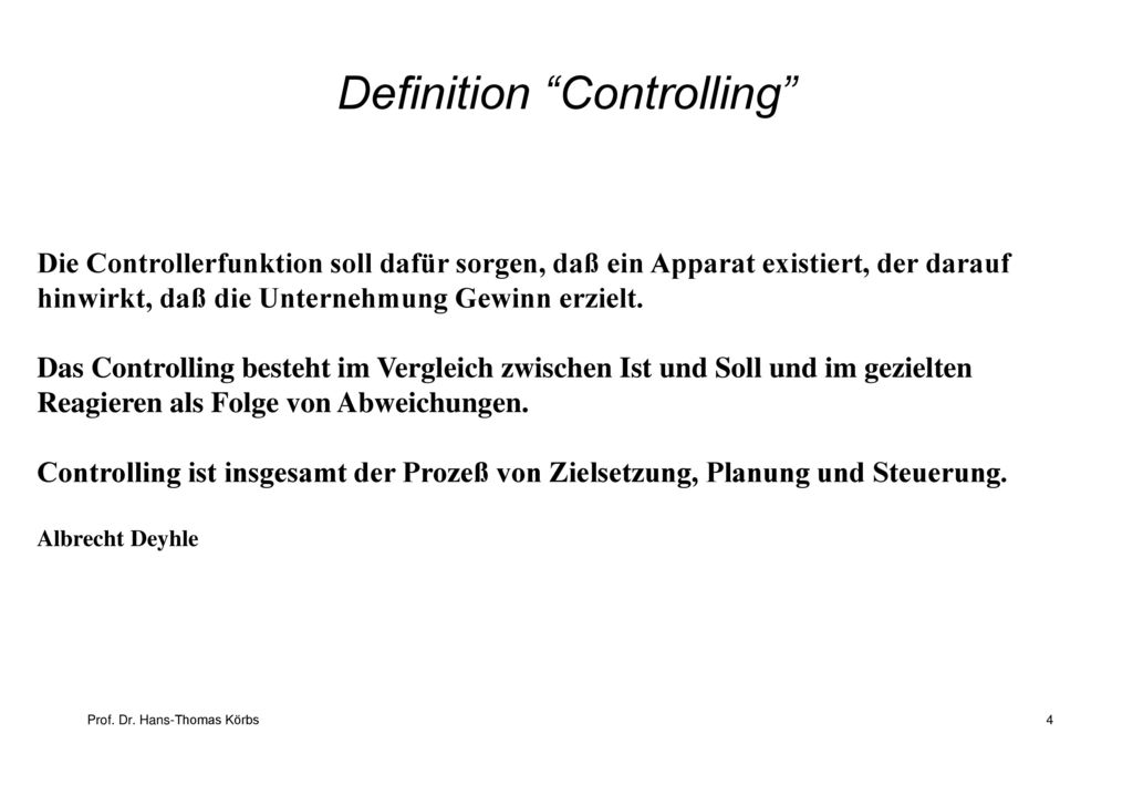 Definition Controlling