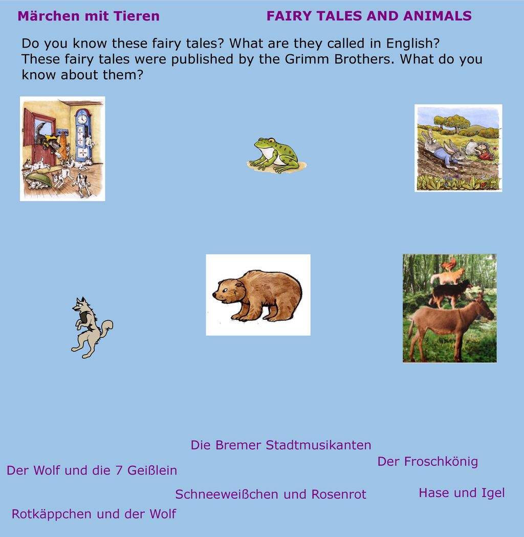 FAIRY TALES AND ANIMALS